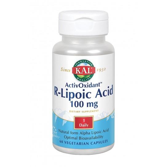 R-Lipoic Acid ActivaOxidant™ -60 Vegcaps.Apto para veganos.
