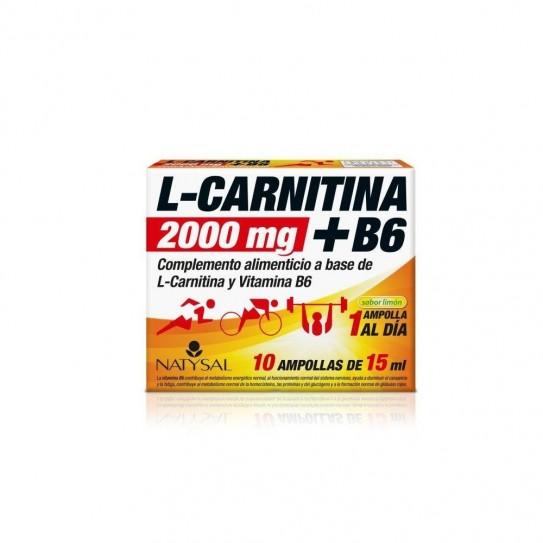 L-Carnitina 2.000Mg.+ B6, 10 Ampollas