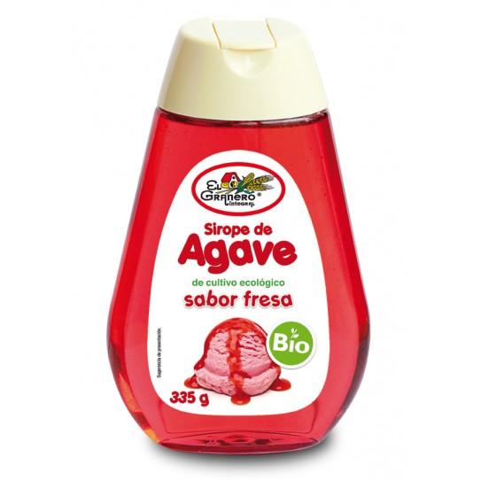 SIROPE DE AGAVE SABOR FRESA BIO, 335 g