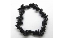 Pulsera de Obsidiana.  Elástica.