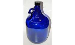 Garrafa de vidrio Azul 2l