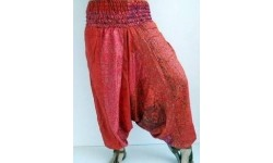 Pantalón afgano seda pachwork vertical