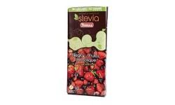 Chocolate negro con frutas del bosque con Stevia, 125g