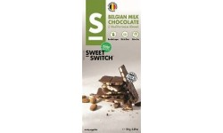 Chocolate belga con leche y stevia, 100g