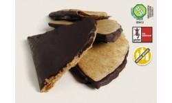 Abanicos sin gluten con recubrimiento al cacao, 8 uds.