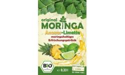 Bebida refrescante de Moringa Piña-Lima Bio (botella), 330ml