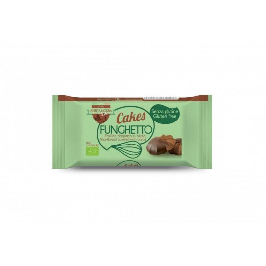 Funghetto (Galletas cubiertas de chocolate sin gluten), 70gr