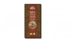 Chocolate Negro 100% Pasta Pura Cacao, 100gr
