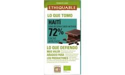 Chocolate negro 72% ecológico Haití, 100gr