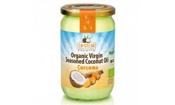 Aceite de coco premium 190ml aromatizado con cúrcuma